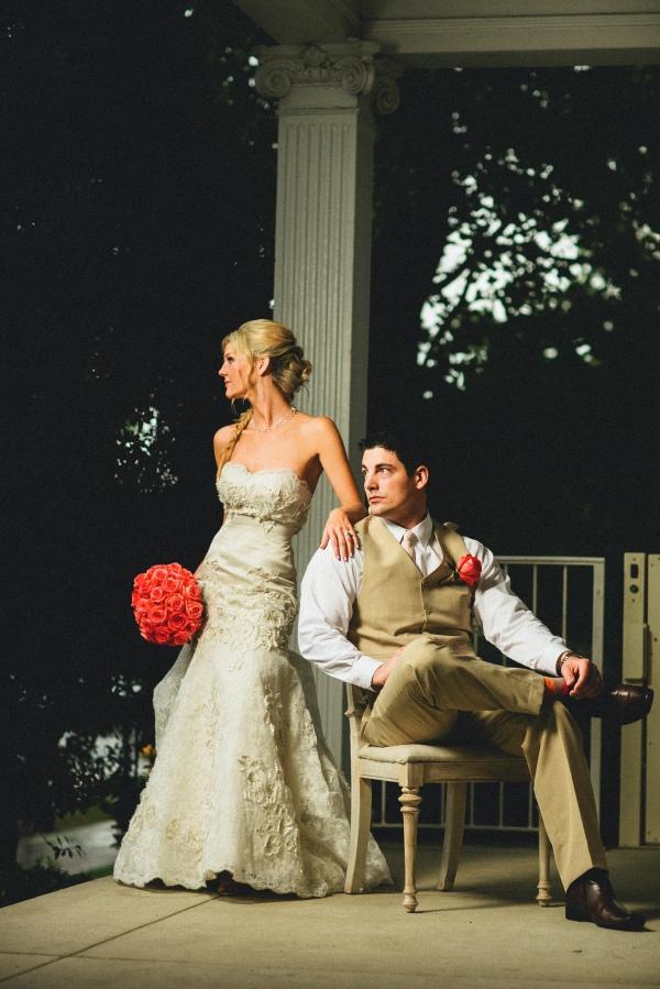 Coral bridal bouquet, Enchanted Florist, Gray Photography